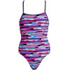 Funkita Strapped In One Piece Swimsuit Ladies Mesh Mash
